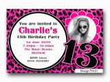 13th Birthday Card Template Personalised Boys Girls Teenager 13th Birthday Party