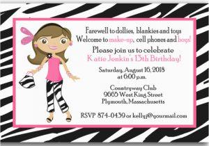 13th Birthday Card Template Teenage Girl 13 Printable Invitation Cards