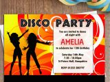 13th Birthday Dance Party Invitations 10 Personalised Disco Dance Birthday Party Invitations N1