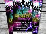 13th Birthday Dance Party Invitations 25 Best Ideas About Neon Party Invitations On Pinterest