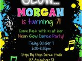 13th Birthday Dance Party Invitations Glow Dance Party Birthday Invitations 1 00 Each Http