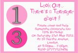 13th Birthday Invitation Wording Ideas Personalised Boys Girls Teenager Party