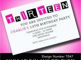 13th Birthday Invitation Wording Samples 13th Birthday Invitation Wording Best Party Ideas