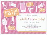 13th Birthday Invitation Wording Samples Girly Party Tween Birthday Party Invitations Paperstyle