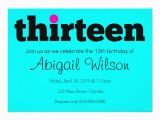 13th Birthday Invitation Wording Thirteen 13th Birthday Party Invitation Zazzle Com