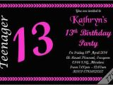 13th Birthday Invitations Boy 10 X Personalised Teenager 13th Boys Girls Birthday