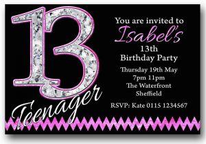 13th Birthday Invitations Boy Personalised Boys Girls Teenager Party