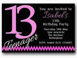 13th Birthday Invites 10 Personalised Boys Girls Teenager 13th Birthday Party