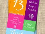 13th Birthday Invites 13th Birthday Invitations Free Invitation Ideas