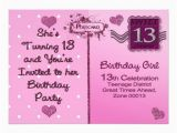 13th Birthday Invites Quotes for Girls 13th Birthday Quotesgram
