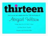 13th Birthday Invites Thirteen 13th Birthday Party Invitation Zazzle Com
