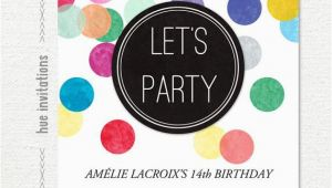 14th Birthday Party Invitations Items Similar to 14th Birthday Party Invitation Rainbow