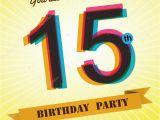 15 Birthday Party Invitations 15 Narozenin Strana Vyzvat Sablony Design V Retro Stylu