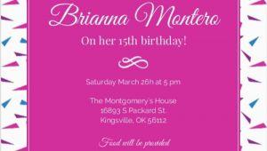 15 Birthday Party Invitations Invitation for 15 Birthday Party orderecigsjuice Info