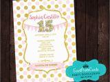 15 Birthday Party Invitations Polka Princess Birthday Party Invitations Sweet 15