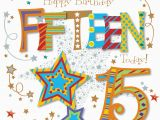 15th Birthday Card Messages Fifteen today 15th Birthday Greeting Card Cards Love Kates