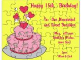 15th Birthday Card Messages Happy 15th Birthday Wishes Card Puzzle by Itsallinthename