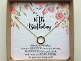16 Gifts for 16th Birthday Girl 16th Birthday Gift Girl Sweet 16 Gift Sweet 16 Necklace
