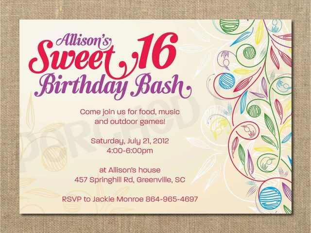 Download By SizeHandphone Tablet Desktop Original Size Back To 16 Year Old Birthday Invitations