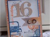 16th Birthday Card Boy 16th Birthday Handmade Greeting Card