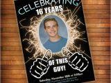 16th Birthday Card Boy 16th Birthday Invitation Thumbs Up Celebrating This Guy