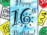 16th Birthday Card Boy 16th Sixteen 16 Sixteenth Birthday Greeting Card Road