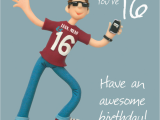 16th Birthday Card Boy Boys 16th Birthday Greeting Card Cards Love Kates