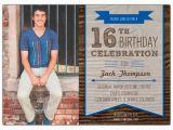 16th Birthday Card Boy Woodsy Banner Boys 16th Birthday Invitations Paperstyle