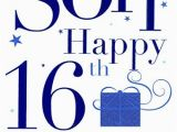 16th Birthday Cards for son Grandson Happy 16th Birthday Card Blue Balloons Amazon