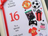 16th Birthday Cards for son Personalised 13th 14th 15th 16th Birthday Card for Boys
