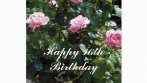 16th Birthday Flowers Happy 16th Birthday Flower Card Zazzle