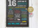 16th Birthday Gifts for Him 16th Birthday Gift for son Fun Facts 2002 Sign