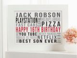 16th Birthday Ideas for Him Personalised 16th Birthday Gifts with On Screen Previews