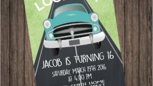 16th Birthday Invitations for Boys Boy 16th Birthday Invitation