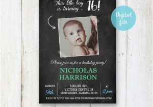 16th Birthday Invitations For Boys Sweet Invitation Personalized