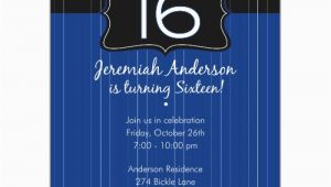 16th Birthday Party Invitations Boy