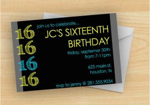 16th Birthday Party Invitations Boy Free Printable 16 Year Old Invitation Template