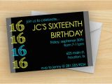 16th Birthday Party Invitations for Boys Free Printable 16 Year Old Birthday Invitation Template