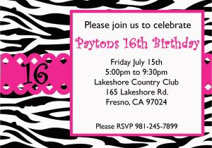 16th Birthday Party Invitations Templates Free 8 Best Images Of Printable