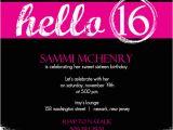 16th Birthday Party Invitations Templates Free Invitations for Sweet 16th Birthday Party Free