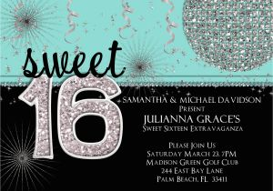 16th Birthday Party Invitations Templates Free Sweet Printable