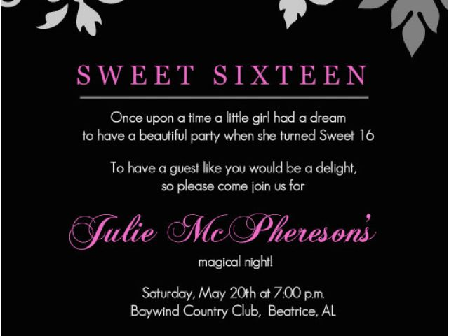Download By SizeHandphone Tablet Desktop Original Size Back To 16th Birthday Party Invitations Templates Free