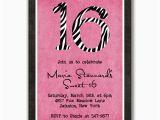 16th Birthday Party Invites 16th Birthday Invitation Ideas Cimvitation