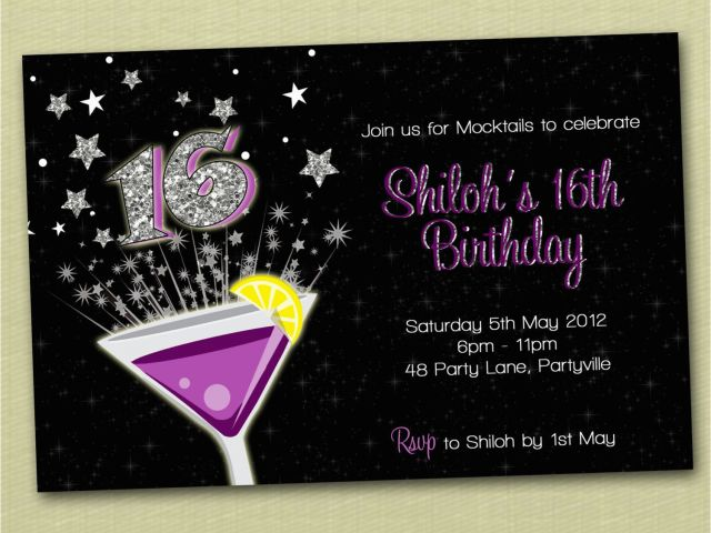 Download By SizeHandphone Tablet Desktop Original Size Back To 16th Birthday Party Invites