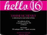 16th Birthday Party Invites Invitations for Sweet 16th Birthday Party Free