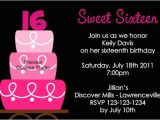 16th Birthday Party Invites Sweet 16th Birthday Invitations Templates Free Printable
