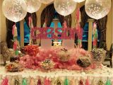 16th Birthday Table Decorations Gorgeous Sweet 16 Candy Buffet with Tassel Confetti