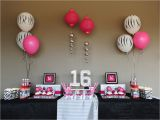16th Birthday Table Decorations Sassy Sweet Sixteen Taking A Lil Walk On the Wild Side