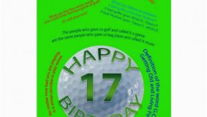 17 Year Old Birthday Cards Golf Jokes Birthday Card for 17 Year Old Zazzle
