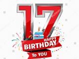 17 Year Old Birthday Cards Happy Birthday 17 Date Fun Celebration Stock Vektor